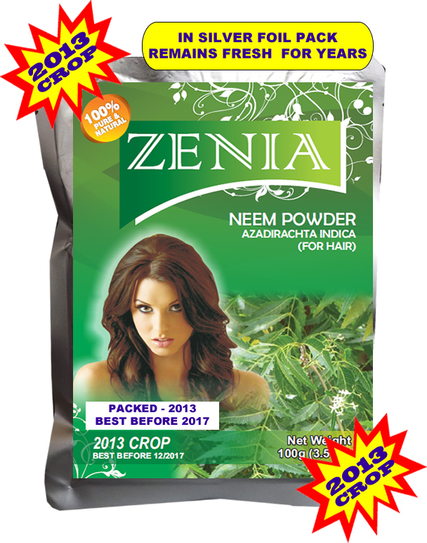 Zenia Neem Powder for Hair Loss Scalp Disorder Dandruff Dry Itchy Scalp
