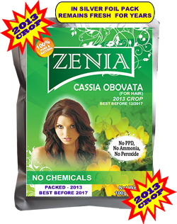 100g Zenia Pure Cassia Obovata Neutral Henna Powder
