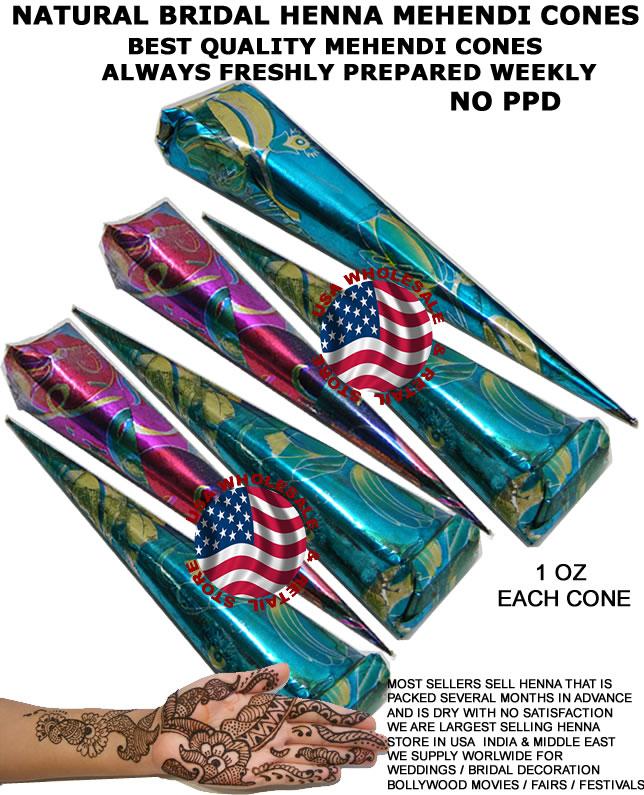 Best Henna Cones: 6 Henna Paste Mehandi Tattoo Art Cone Tube Mehndi USA