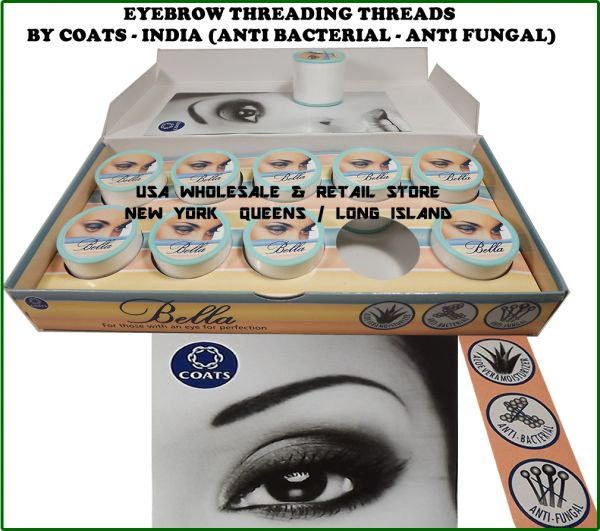 Bella Eyebrow Threading Thread 500m/spool Anti Bacterial Anti Fungal With Aoevera Moisturizer