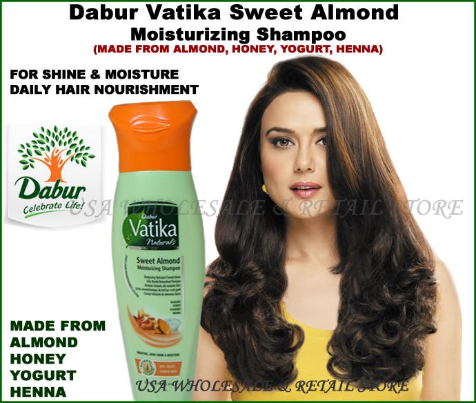 Dabur Vatika Natural Sweet Almond Moisturizing Shampoo