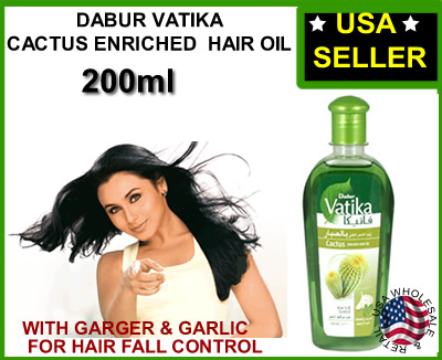 Dabur Vatika Cactus Garger & Garlic Hair Fall Control Hair Oil