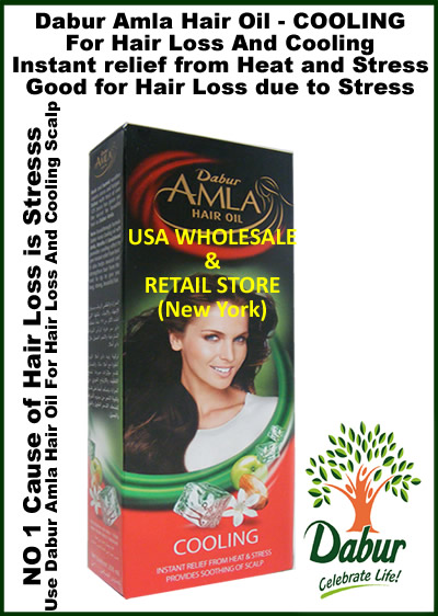 Dabur Amla Cooling Hair Oil For Hair Loss Due to Stress