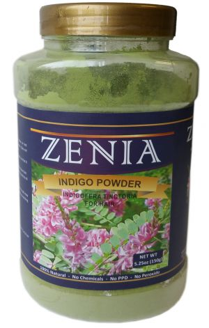 150g Zenia Indigo Powder Bottle Indigofera Tinctoria