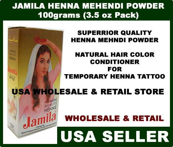 Jamila Henna Mehndi Powder Skin Tattoo Hair