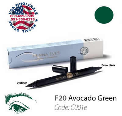 HenneEyes Henna EyeLiner and Brow Liner Pen Avocadogreen Color