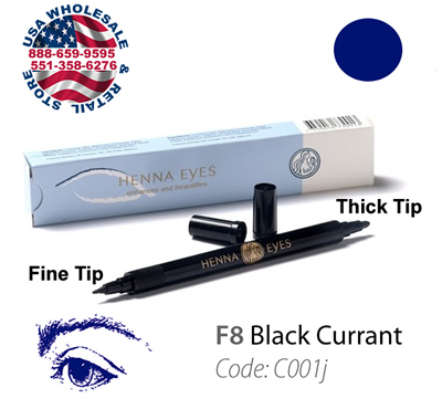 HenneEyes Henna EyeLiner and Brow Liner Pen Black Currant Color