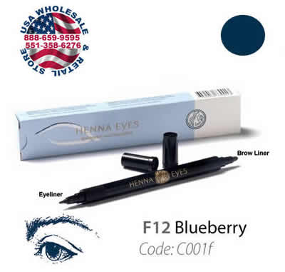 HenneEyes Henna EyeLiner and Brow Liner Pen Blueberry Color