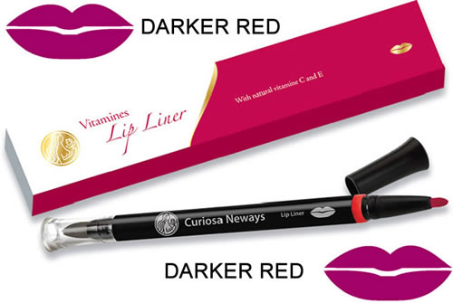 Vitamin Lip Liner Pen Darker Red